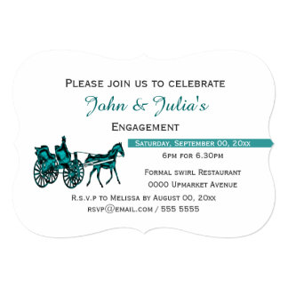 Horse carriage formal celebration AW Card