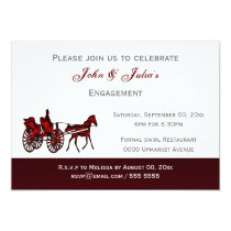 Horse carriage formal engagement anniversary invitation