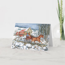 Horse & Carriage Holiday Card