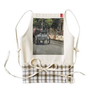 Horse carriage in Melbourne Zazzle HEART Apron