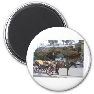 Horse carriage in Mijas 2 Inch Round Magnet
