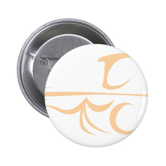 Horse Carriage in Swish Drawing Style Pinback Button