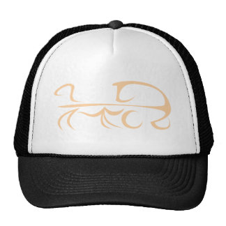 Horse Carriage in Swish Drawing Style Trucker Hat