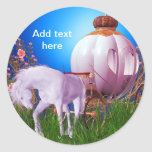 Horse Carriage Princess Royal Princess Labels Classic Round Sticker