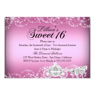 Horse & Carriage Princess Theme Sweet 16 Invite