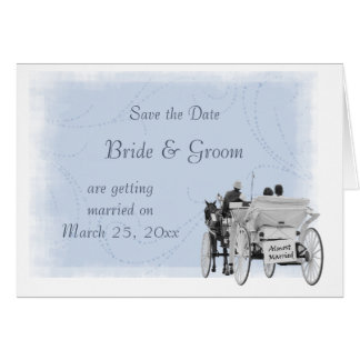 Horse Carriage - Save the Date - Almost Married Greeting Cards