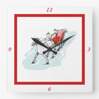 Horse & Carriage - Square Wall Clock