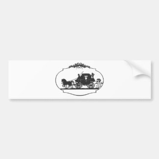 horse carriageb bumper sticker