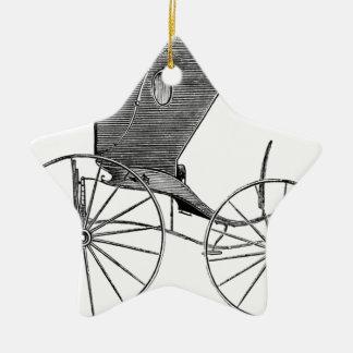 horse-carriages-3-hundred years.jpg adorno navideño de cerámica en forma de estrella