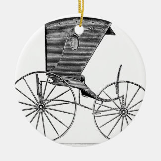 horse-carriages-3-hundred years.jpg adorno navideño redondo de cerámica