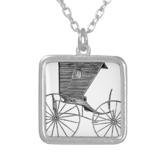 horse-carriages-3-hundred years.jpg square pendant necklace