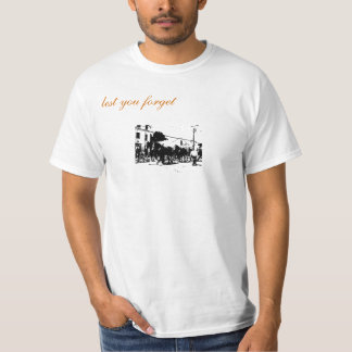 Horse Cart Logo with Axes on Back T-Shirt
