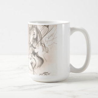 Horse Cello Drawing Design Mug