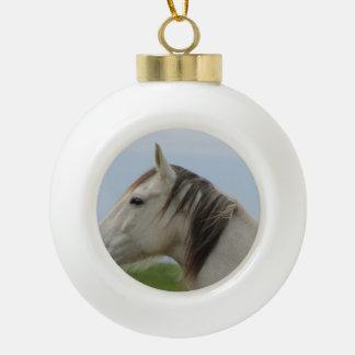 horse ceramic ball christmas ornament