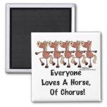 Horse Chorus Line Fridge Magnet