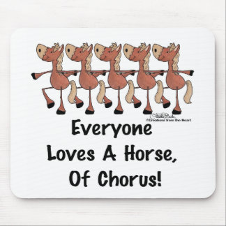 Horse Chorus Line Mouse Mat