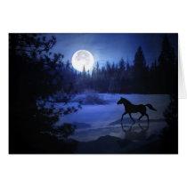 Horse Christmas Card Dashing Through the Snow