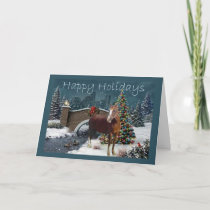 Horse Christmas Evening Card