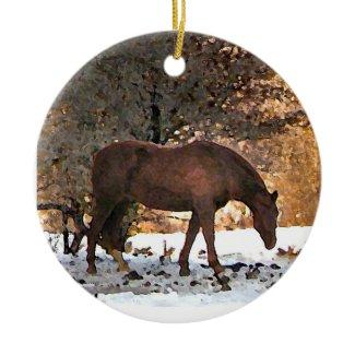 Horse Christmas Ornament ornament
