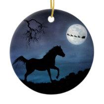 Horse Christmas Ornamet Ceramic Ornament