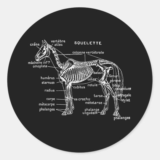 Horse Classic Round Sticker