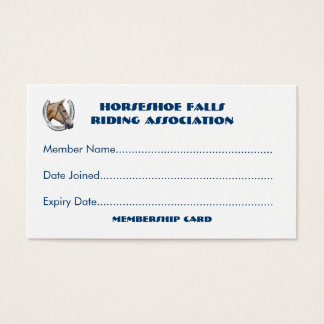 Horse club or group membership business card