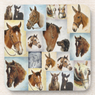 Horse Collage Coasters