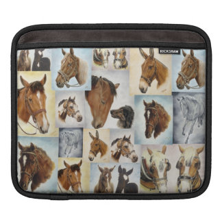 Horse Collage iPad Sleeve