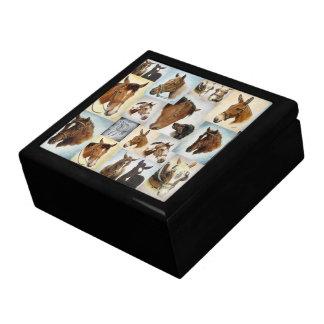Horse Collage Jewelry Box