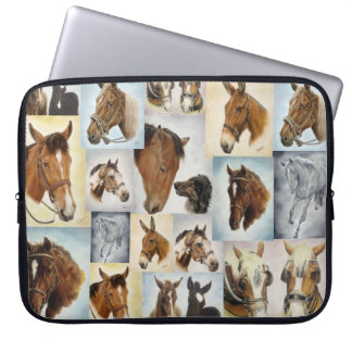 Horse Collage Laptop Sleeve
