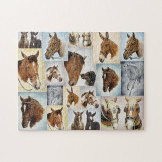 Horse Collage Puzzle