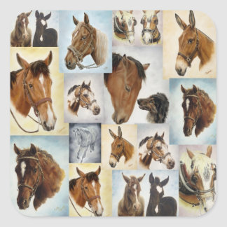Horse Collage Stickers