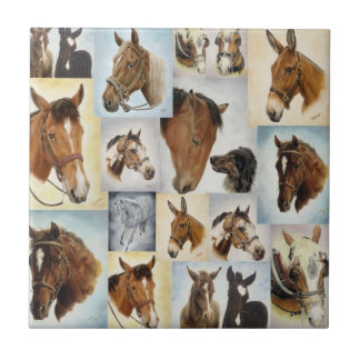 Horse Collage Tile