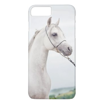 Beach Themed horse collection. arabian white iPhone 8 plus/7 plus case
