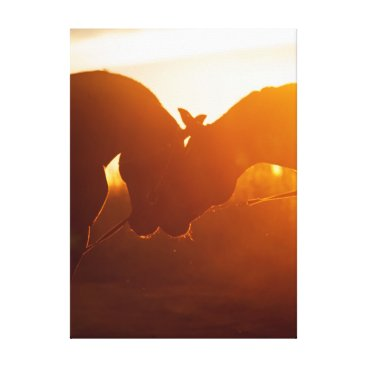 Beach Themed horse collection. love canvas print