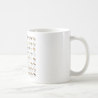 Horse Colours Classic White Coffee Mug
