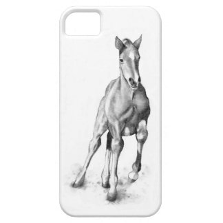 Horse, Colt Running: Pencil Art, Equine iPhone SE/5/5s Case