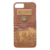 """Horse & Colt"" Western Cowgirl iPhone 7 case"