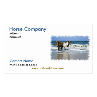 Horse Compay Business Card