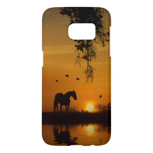 Horse Country Birds and Oak Tree Samsung Galaxy S7 Case