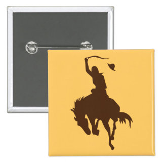 Horse & Cowboy Button