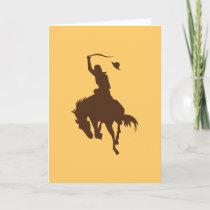 Horse & Cowboy Card