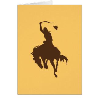Horse & Cowboy Greeting Card