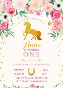 Horse birthday invitations zazzle horse cowgirl birthday invitation filmwisefo
