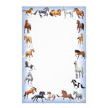 Horse Crazy Stationery Blue