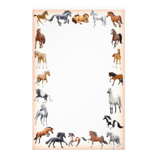 Horse Crazy Stationery Peach