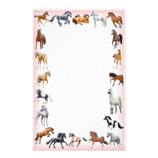 Horse Crazy Stationery Pink