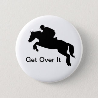 Horse Cross-Country Eventing Pinback Button