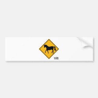 Horse Crossing Sign Car Bumper Sticker