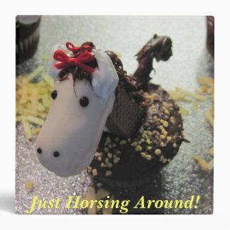 Horse Cupcake Binder